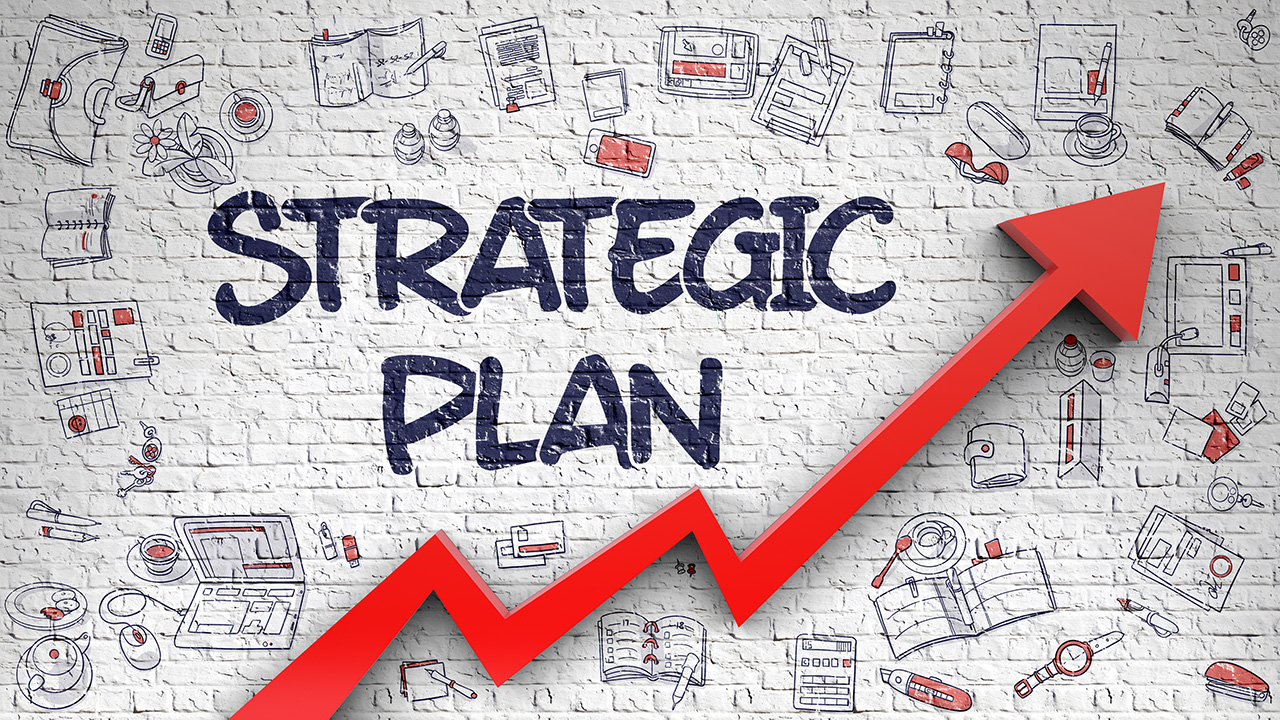 """Strategic Plan"" arrow graphic"