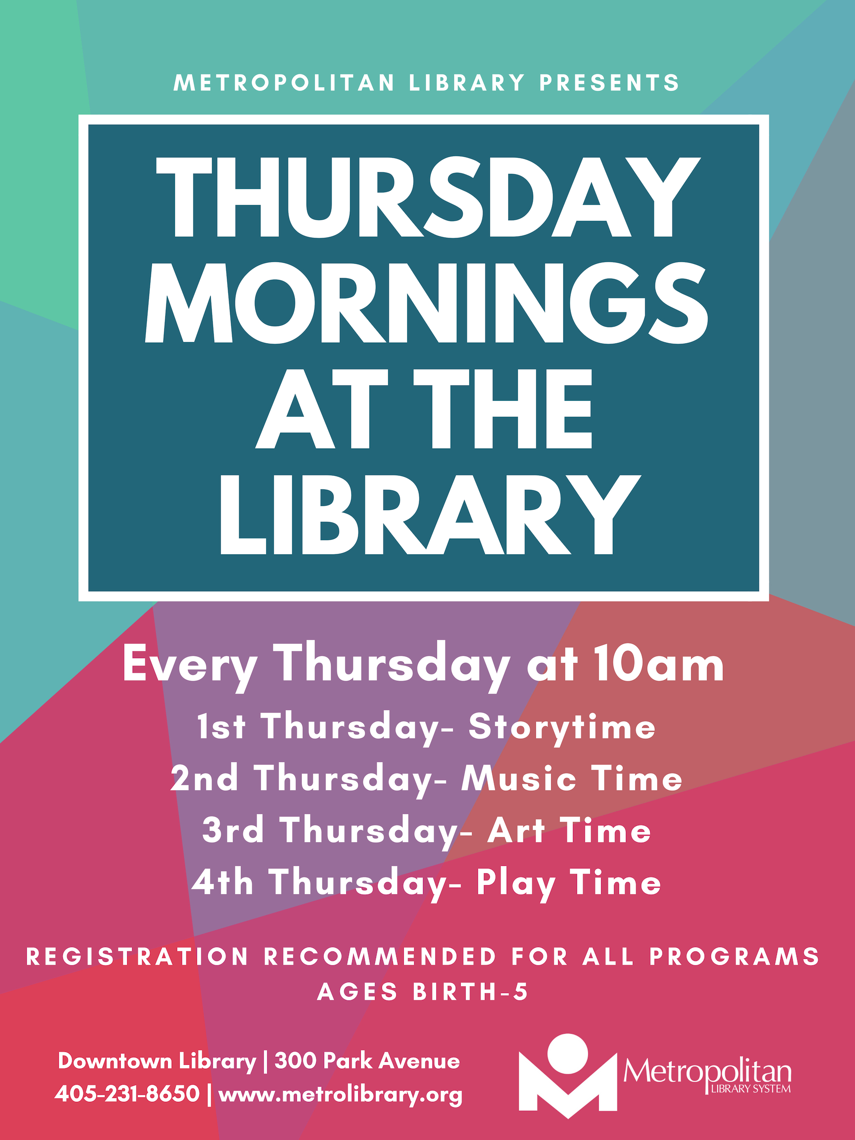 Thursday Mornings at the Library