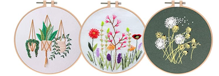 Sample embroidery projects.