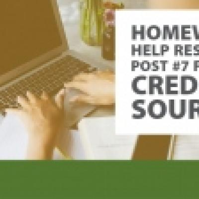 Homework Help Resource Post #7: Finding Credible Resources for Research Papers