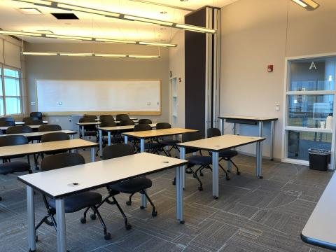 Classroom AB with classroom-style seating