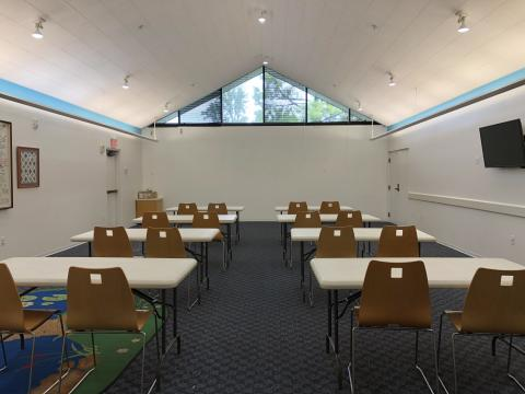 Choctaw meeting room with classroom style setup