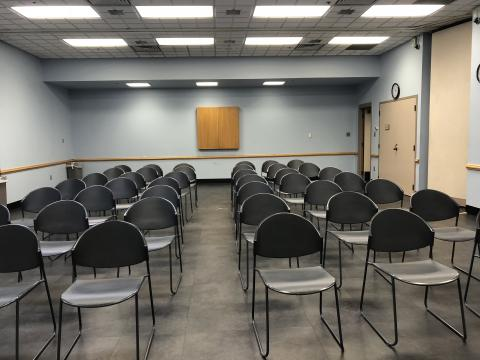 Meeting Room AB at Midwest City with audience auditorium room setup