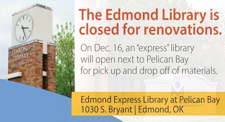 Edmond Library Closed