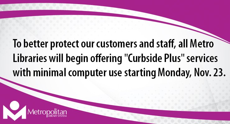 curbside plus slider - limited computer and technology use with delivery or ready holds to your car