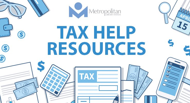 tax help graphic with tax icons such as tax forms calculator smart phone april 15