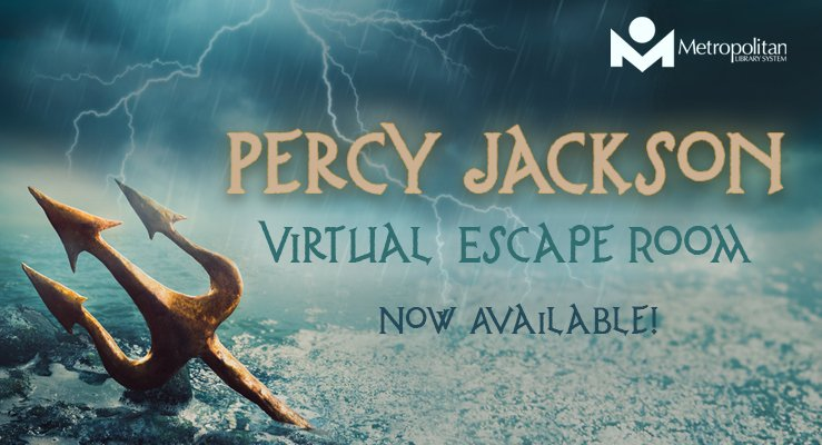 Percy Jackson Virtual Escape Room now available!