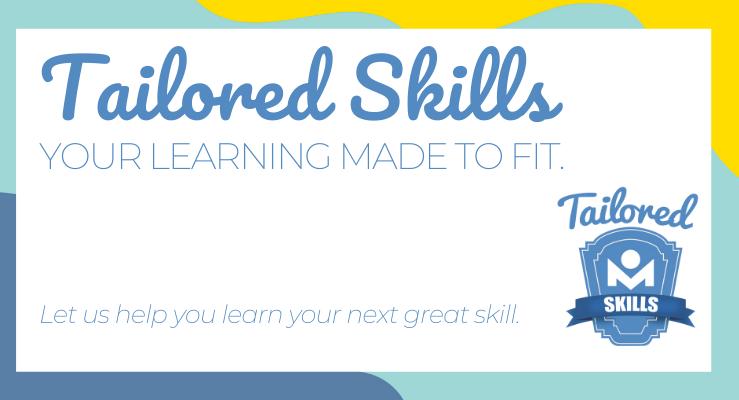 Tailored Skills slider.  create a custom learning list