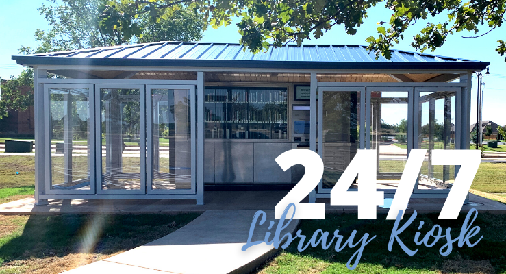 24/7 Library Kiosk - image of the 24/7 Library Kiosk located at Mitch Park